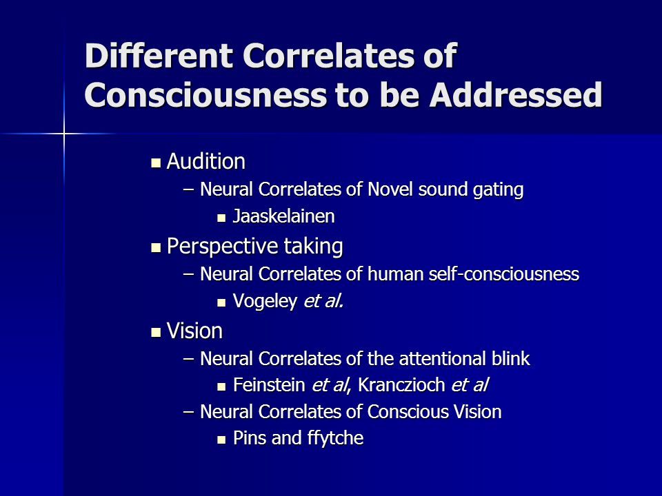 Neural Correlates Constituting Novel Sounds to Consciousness Jaaskelainen et al