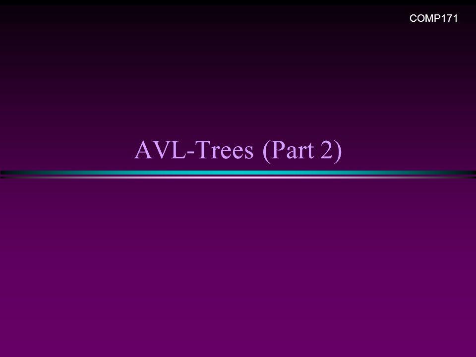 AVL-Trees (Part 2) COMP171