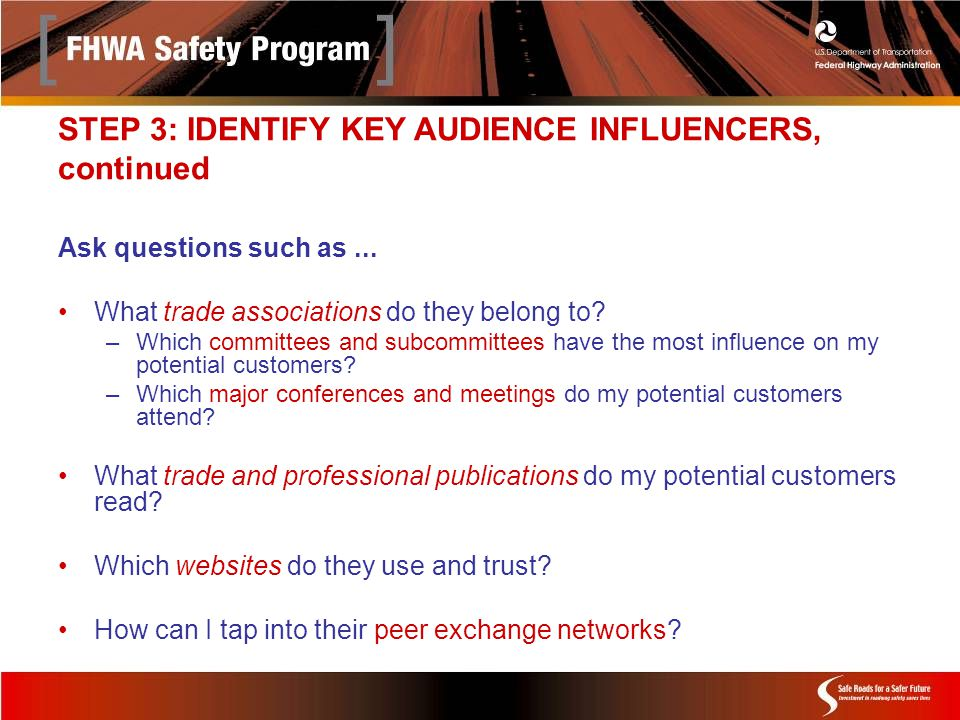 Ask questions such as... What trade associations do they belong to.