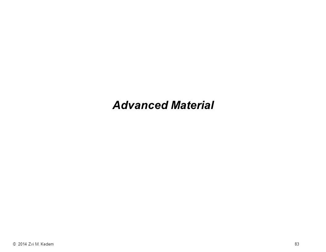 © 2014 Zvi M. Kedem 83 Advanced Material