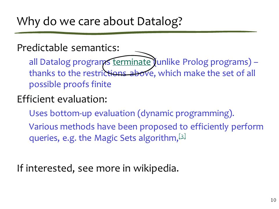 Why do we care about Datalog.