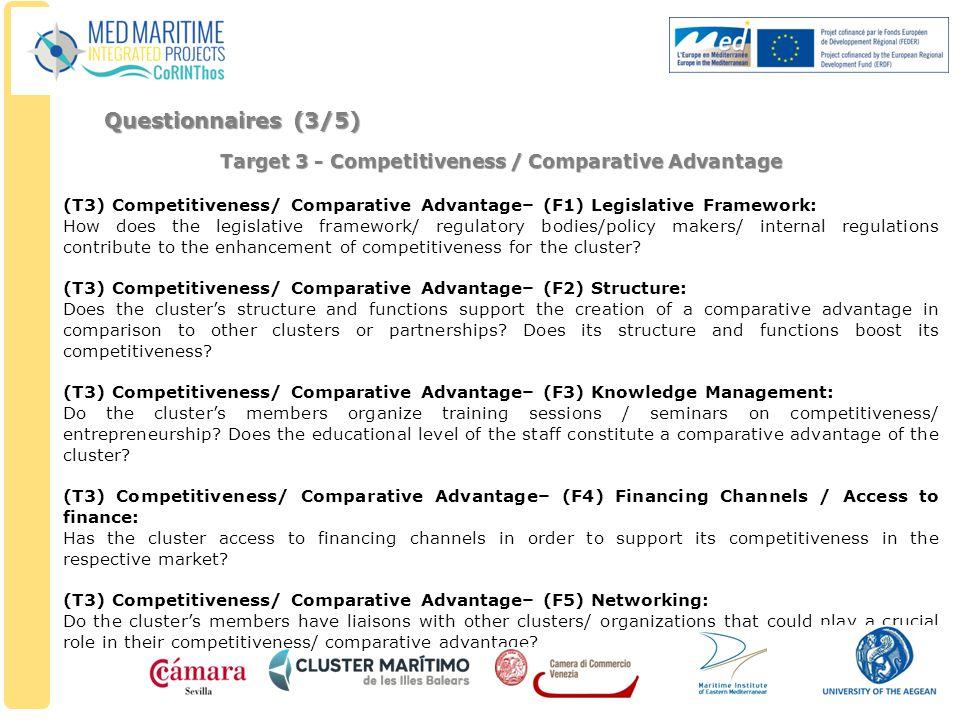 Target 3 - Competitiveness / Comparative Advantage (T3) Competitiveness/ Comparative Advantage– (F1) Legislative Framework: How does the legislative f