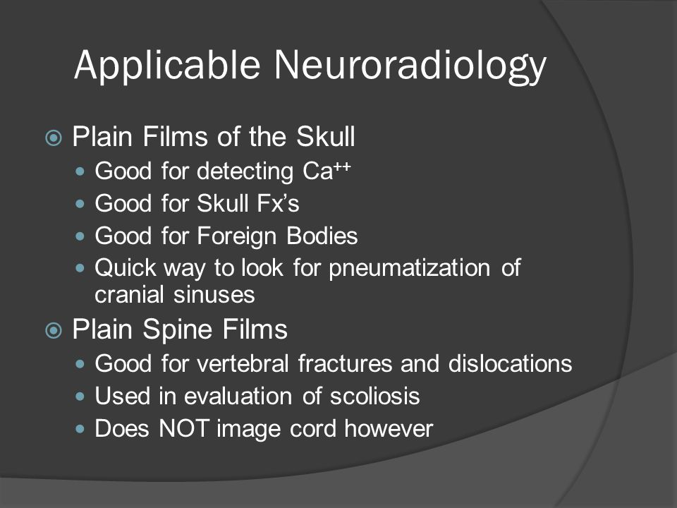Applicable Neuroradiology What is the Abnormality?