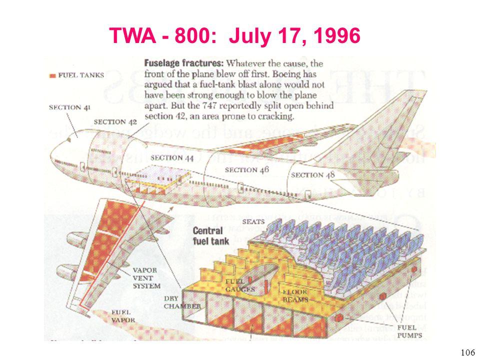 106 TWA - 800: July 17, 1996
