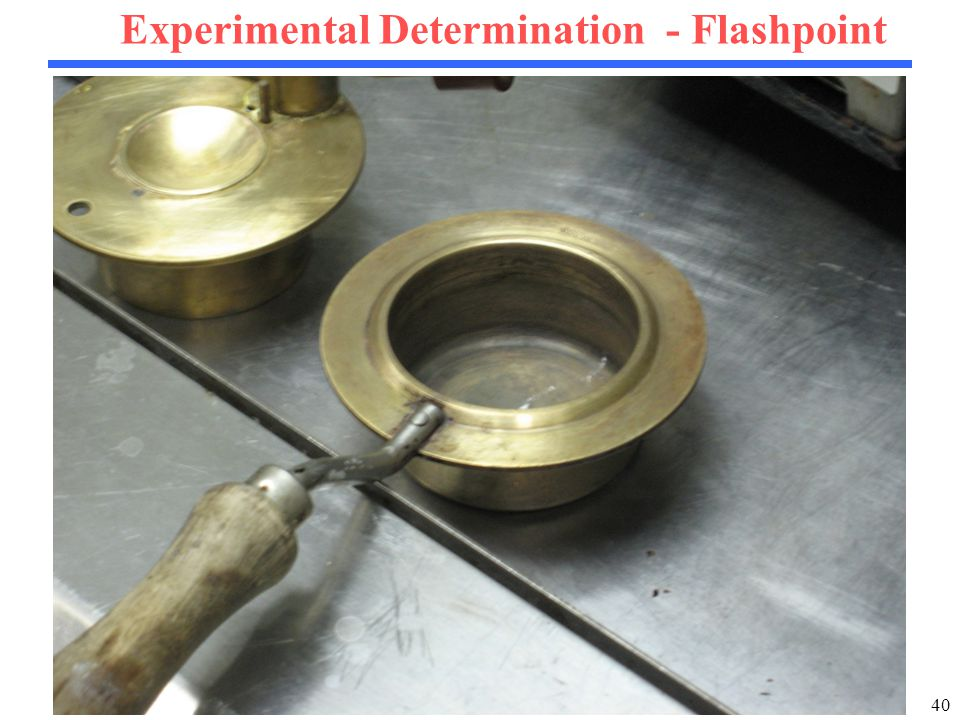 40 Experimental Determination - Flashpoint