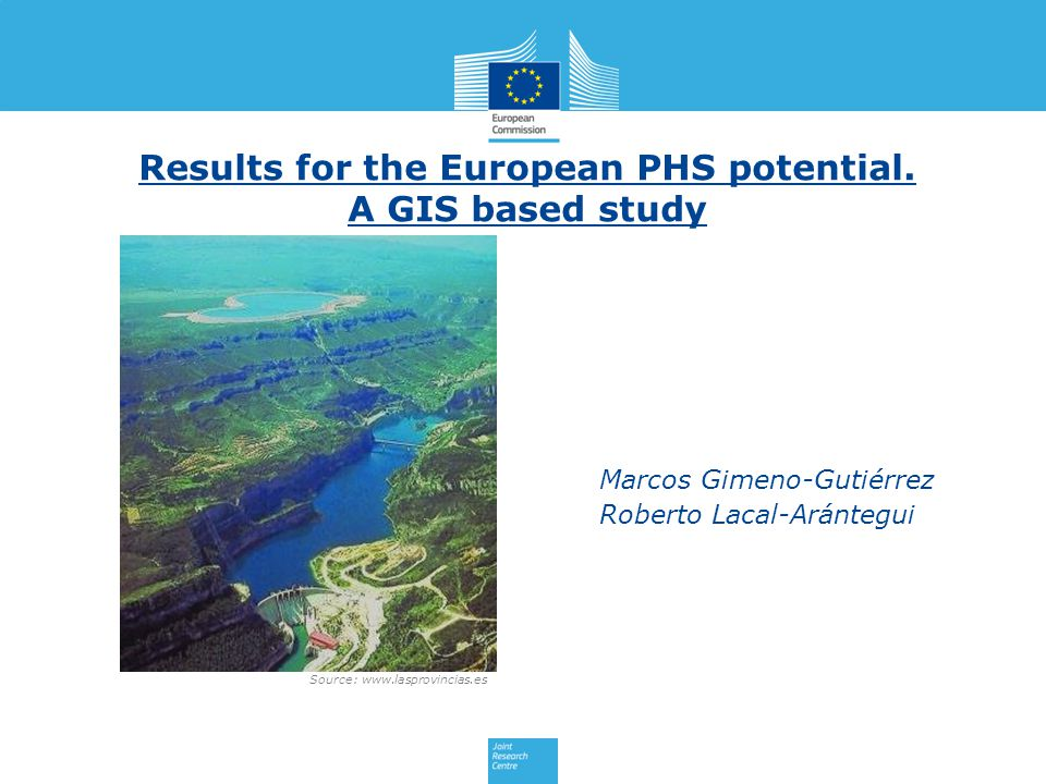Source: www.lasprovincias.es Results for the European PHS potential.