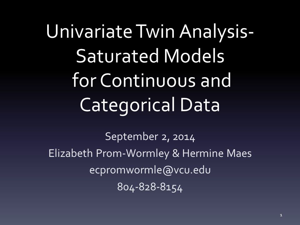 Transitioning from Continuous Logic to Categorical Logic Ordinal data has 1 less degree of freedom compared to continuous data MZcov, DZcov, Prevalence No information on the variance Thinking about our ACE/ADE model 4 parameters being estimated A/ C/ E/ mean ACE/ADE model is unidentified without adding a constraint