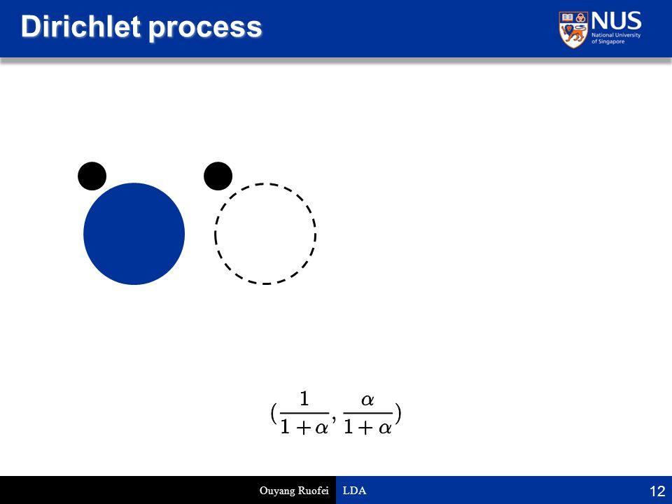 Dirichlet process Ouyang Ruofei LDA 12