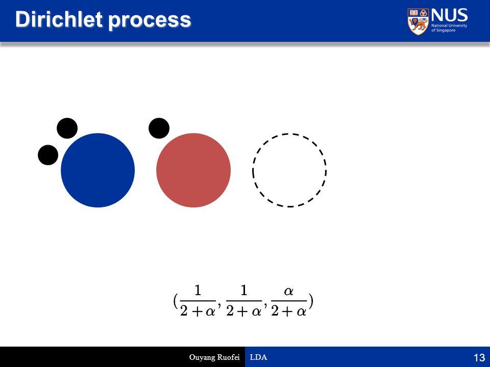 Dirichlet process Ouyang Ruofei LDA 13