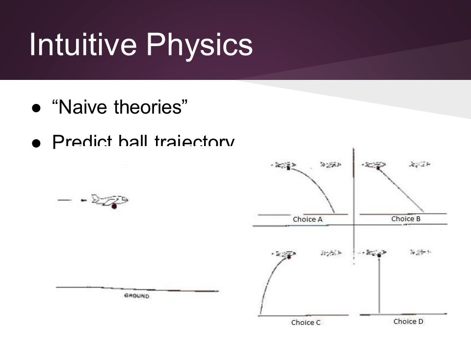 Intuitive Physics ● Naive theories ●Predict ball trajectory