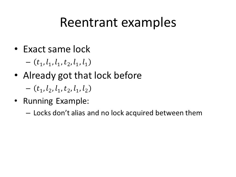 Reentrant examples