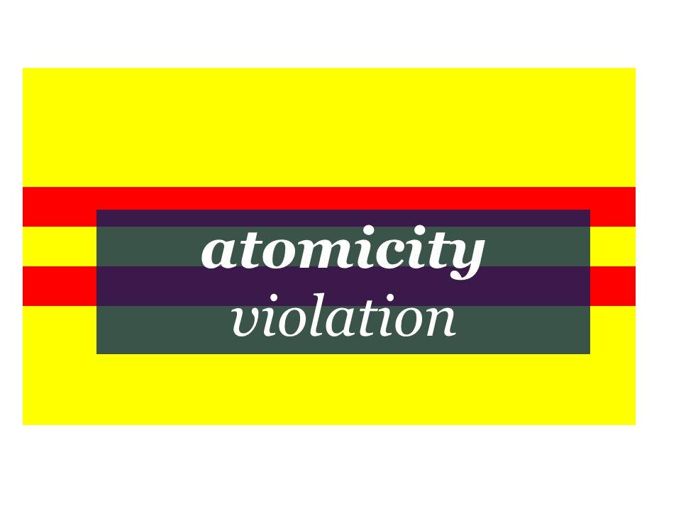 atomicity violation
