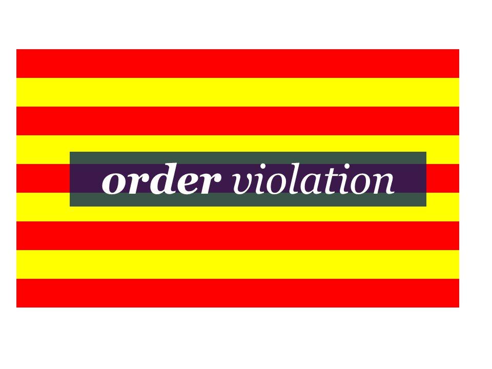 order violation