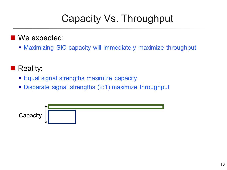 18 Capacity Vs.