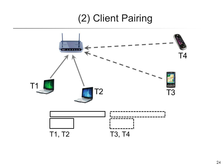 24 (2) Client Pairing T2 T3 T4 T1 T1, T2 T3, T4
