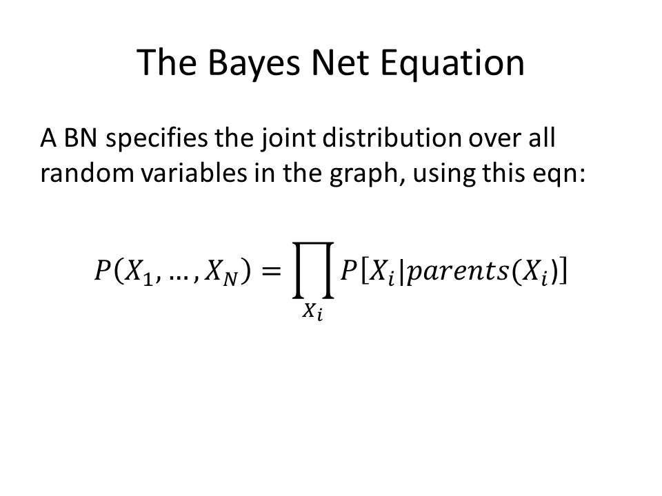 The Bayes Net Equation