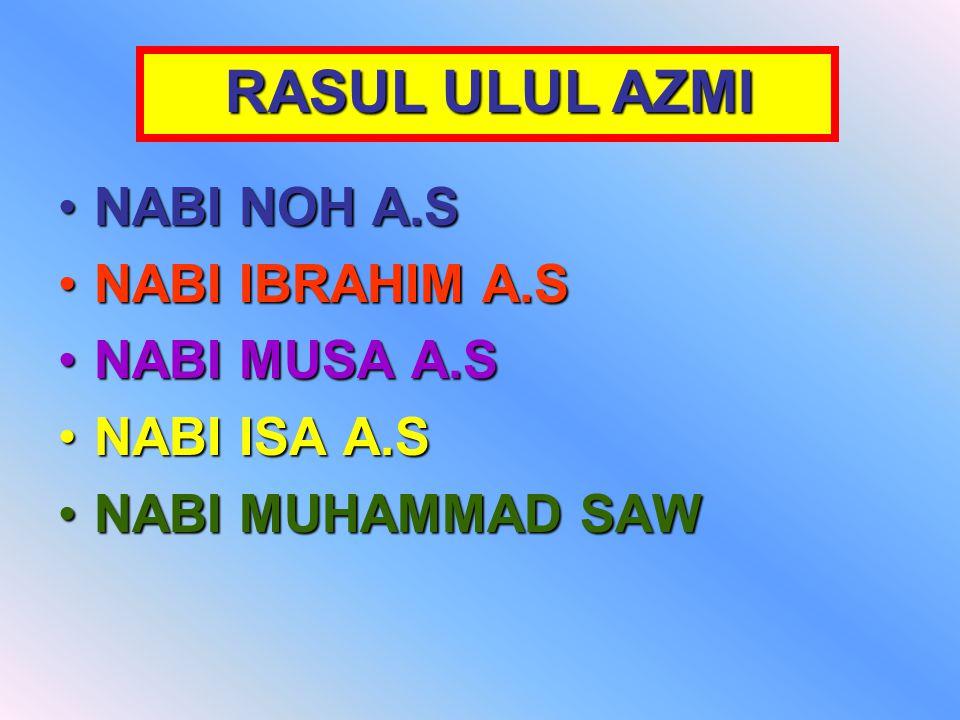 NABI NOH A.SNABI NOH A.S NABI IBRAHIM A.SNABI IBRAHIM A.S NABI MUSA A.SNABI MUSA A.S NABI ISA A.SNABI ISA A.S NABI MUHAMMAD SAWNABI MUHAMMAD SAW RASUL