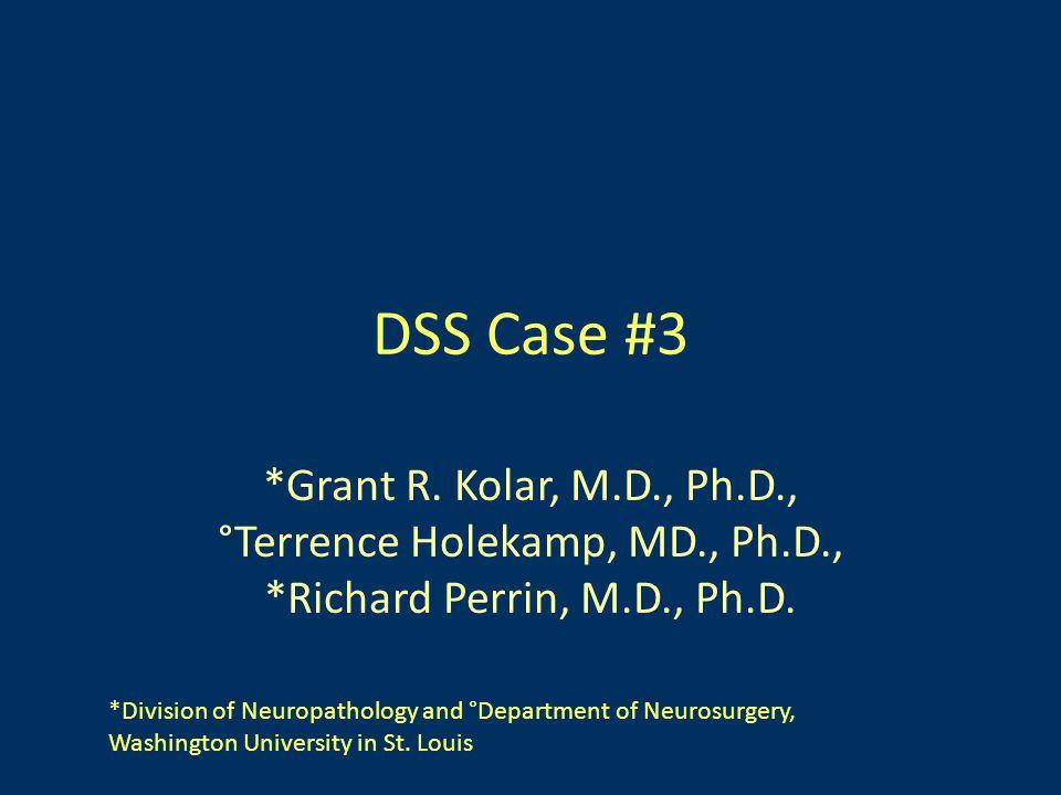 DSS Case #3 *Grant R.