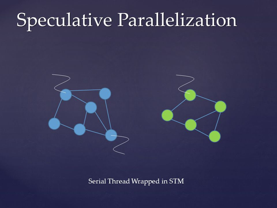 Speculative Parallelization Serial Thread Wrapped in STM