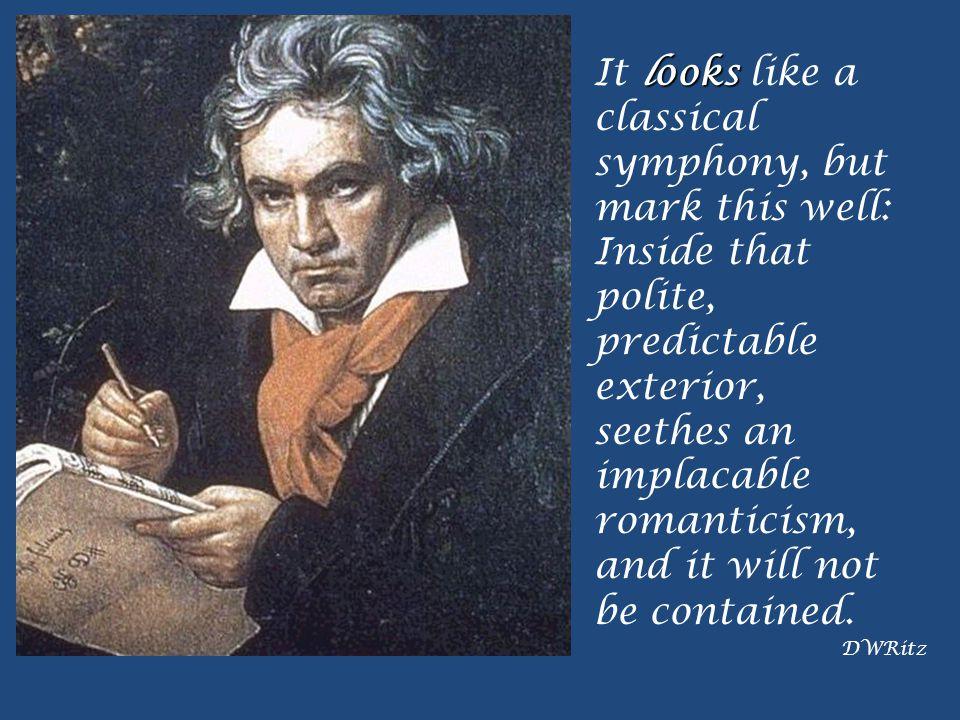 Summary Beethoven Symphony No. 5 in C Minor, Op. 67 Symphony I =mvt. 1 = sonata form standard symphony format IMP Romantic characteristics cyclicism Y