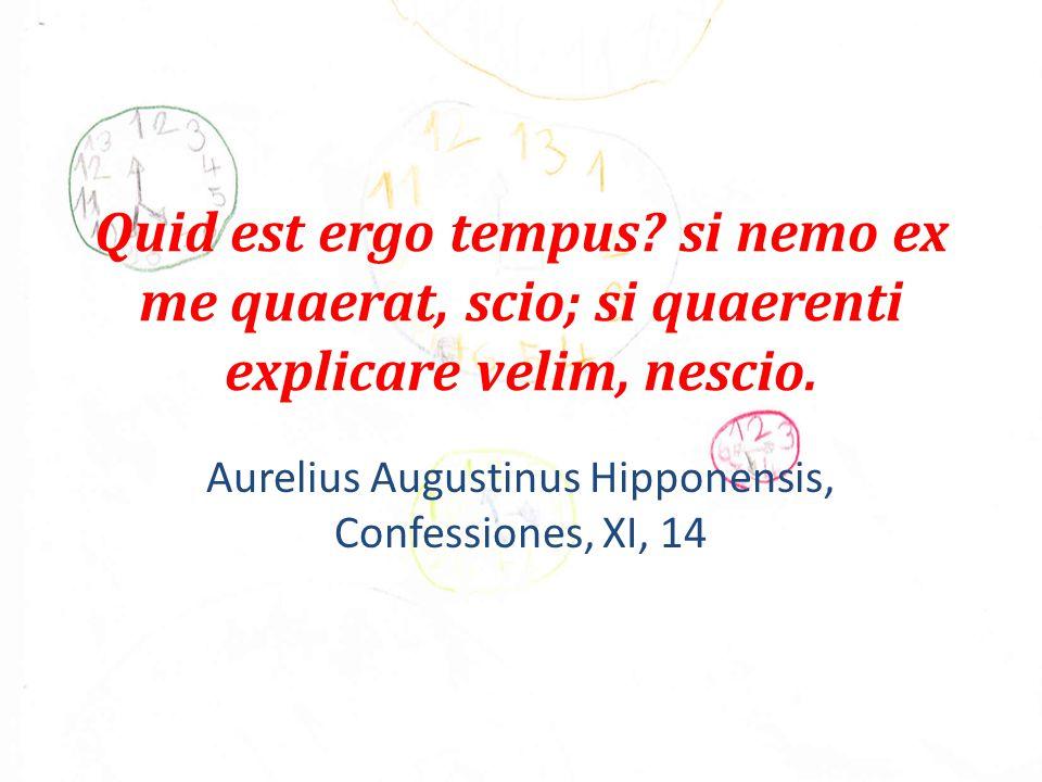 Quid est ergo tempus. si nemo ex me quaerat, scio; si quaerenti explicare velim, nescio.