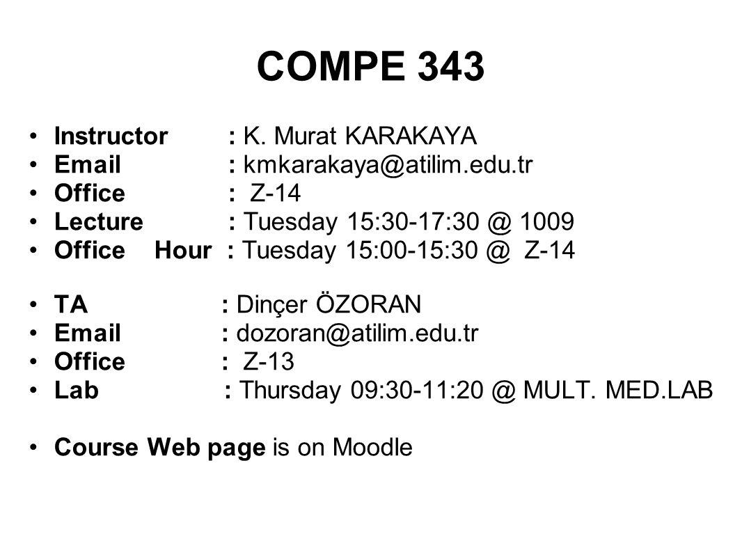COMPE 343 Instructor : K.