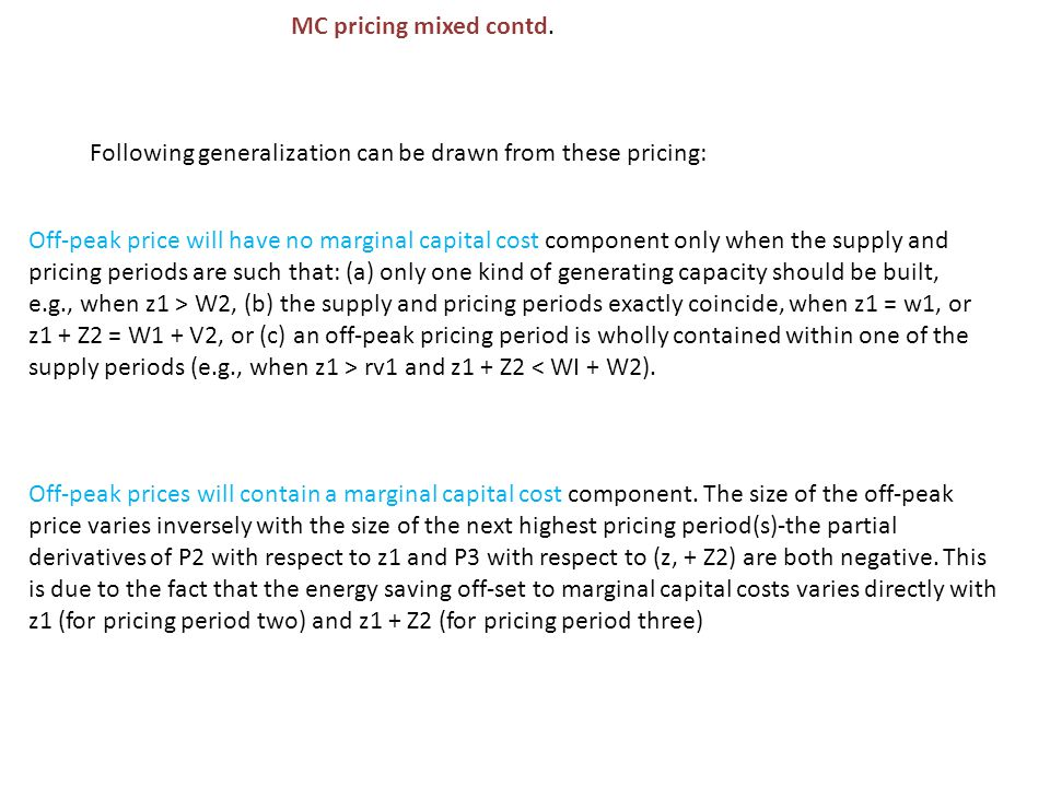 MC pricing mixed contd.