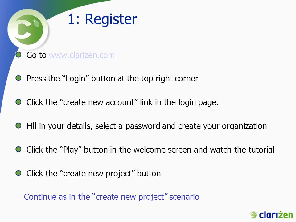 2: Create a new project Click the Add new Project link in the home page OR Click the Add project button in the Project page and then choose Create New Project In the New Project Wizard, select Create project from a default template Change the project name to My Project Change project Start Date to 6/1/2007 Click Finish Click Go To project