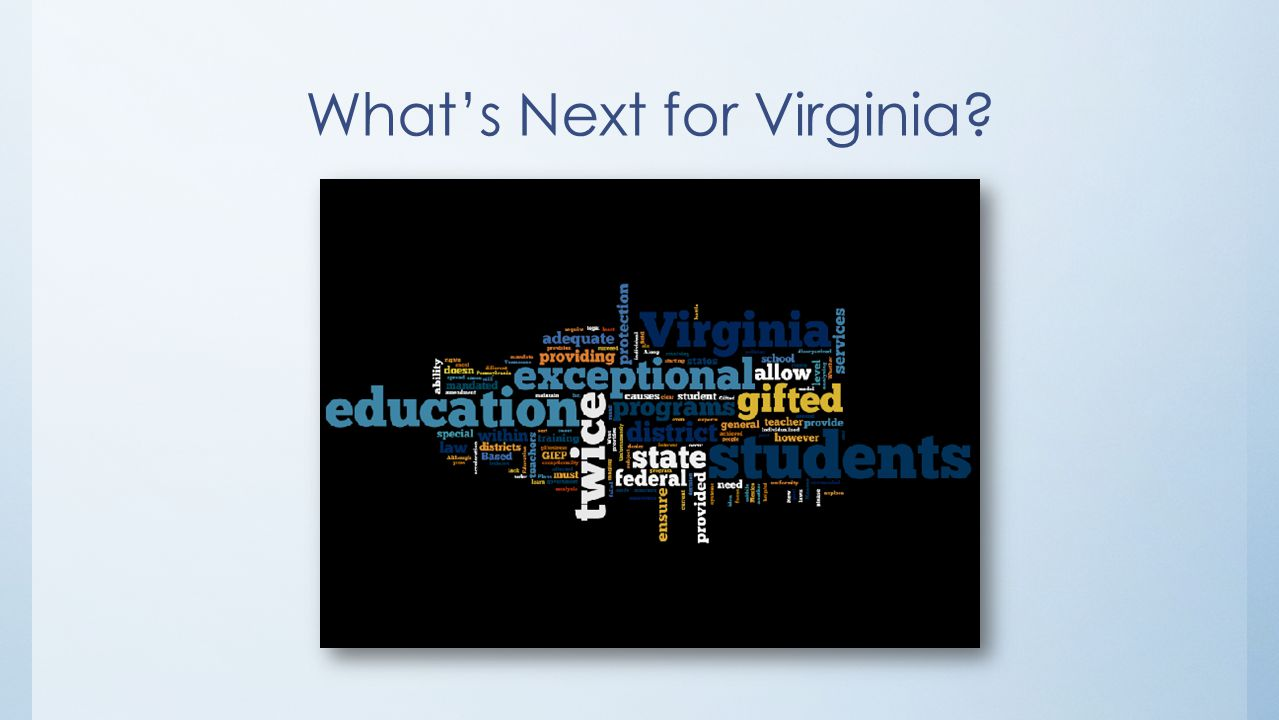 What's Next for Virginia