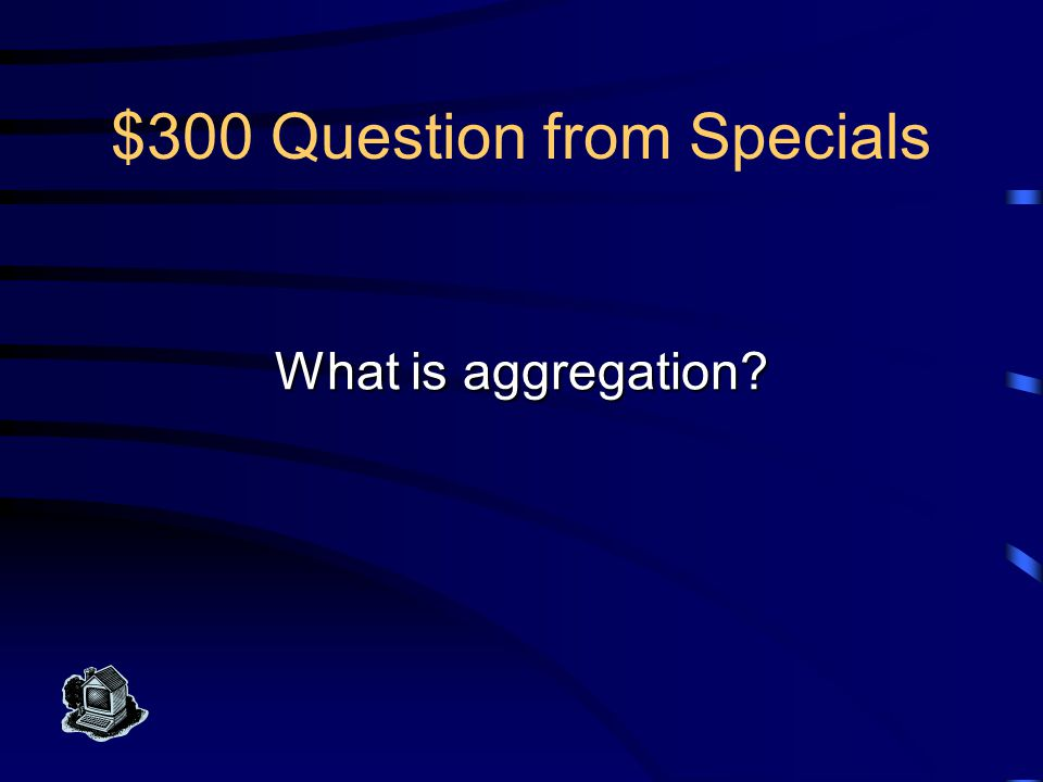 $300 Answer from Specials This is the UML notation to indicate that a class type really represents a collection of individual components.