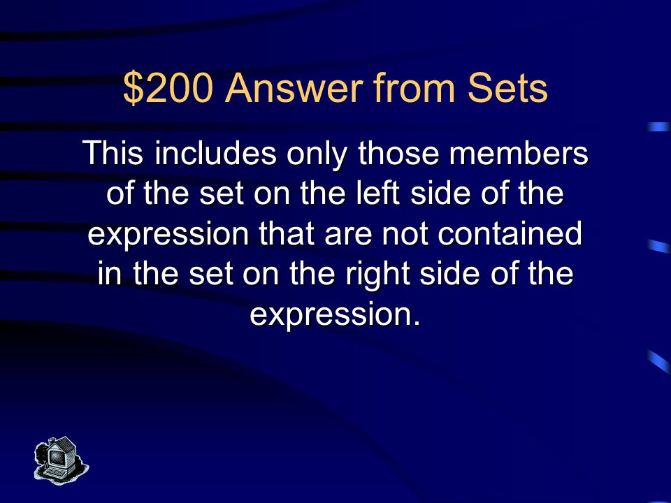 $100 Question from Sets What is Union