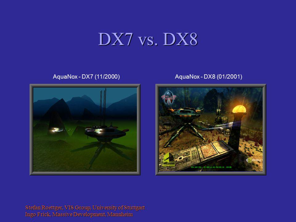 Stefan Roettger, VIS Group, University of Stuttgart Ingo Frick, Massive Development, Mannheim DX7 vs.