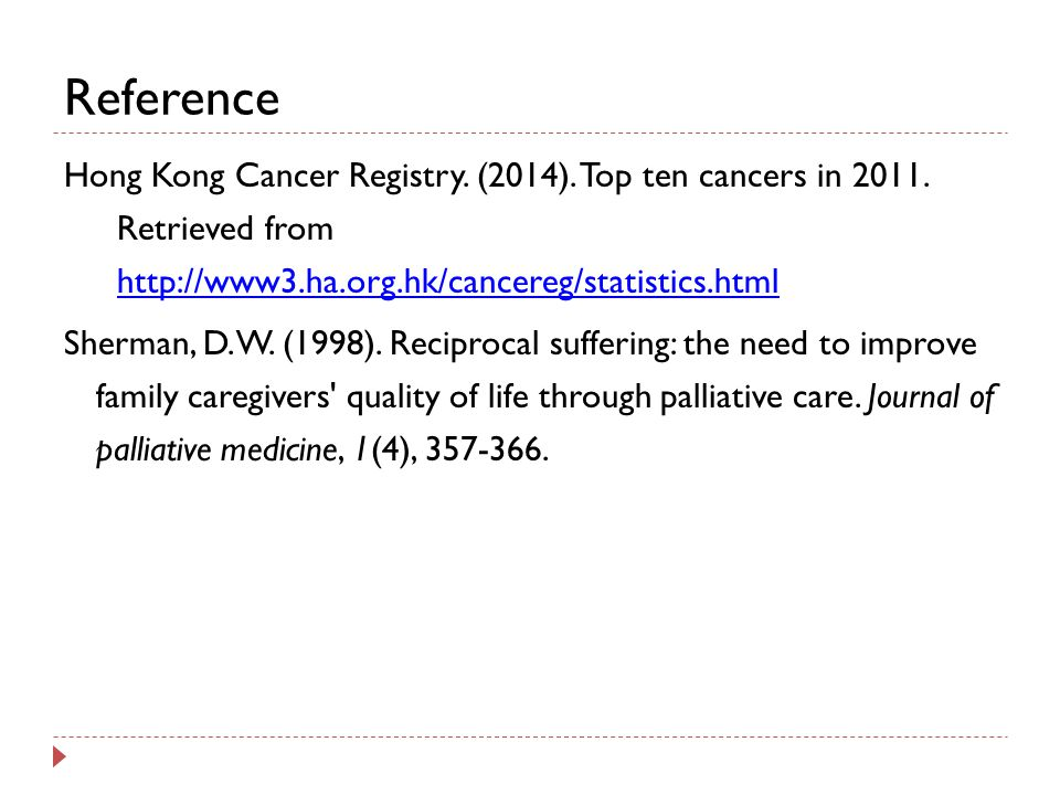 Reference Hong Kong Cancer Registry.(2014). Top ten cancers in 2011.