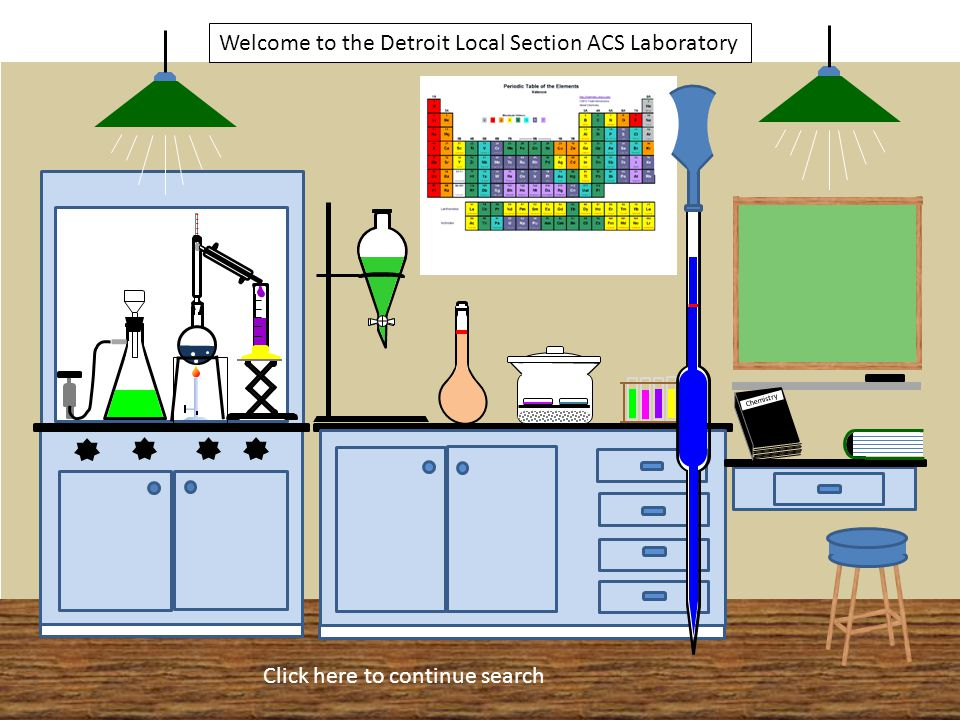 Chemistry Welcome to the Detroit Local Section ACS Laboratory Click here to continue search Caution Delicate Instrument 24 -Sample Bottles