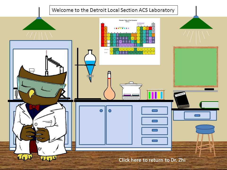Welcome to the Detroit Local Section ACS Laboratory Chemistry CXHXOXCXHXOX H2OH2O Click here to return to Dr.