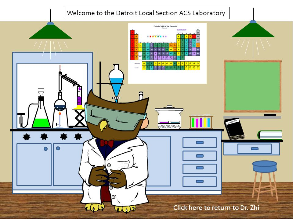 Chemistry Welcome to the Detroit Local Section ACS Laboratory CXHXOXCXHXOX Click here to return to Dr.