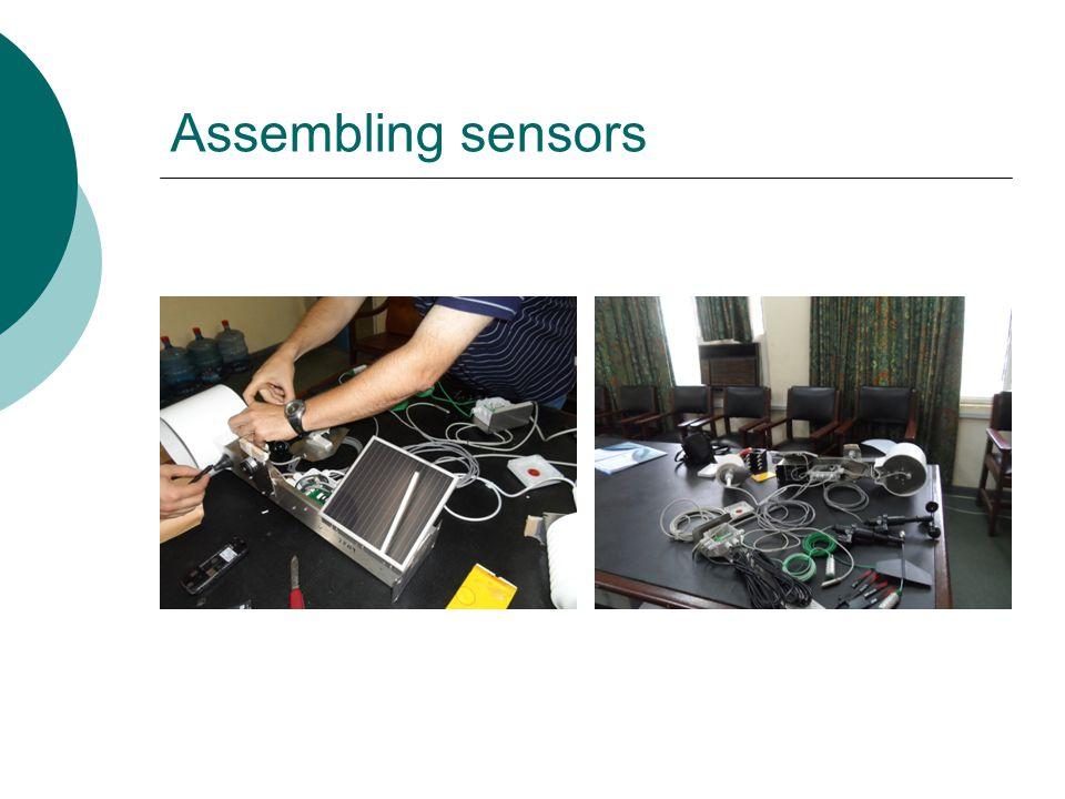 Assembling sensors