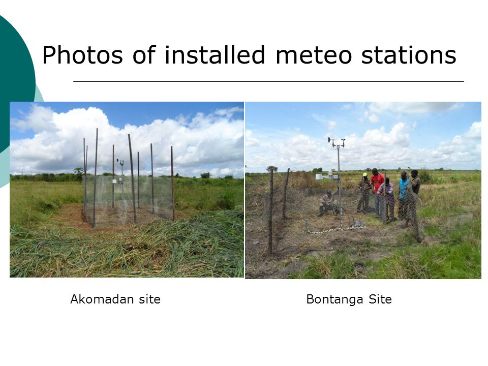 Akomadan siteBontanga Site Photos of installed meteo stations