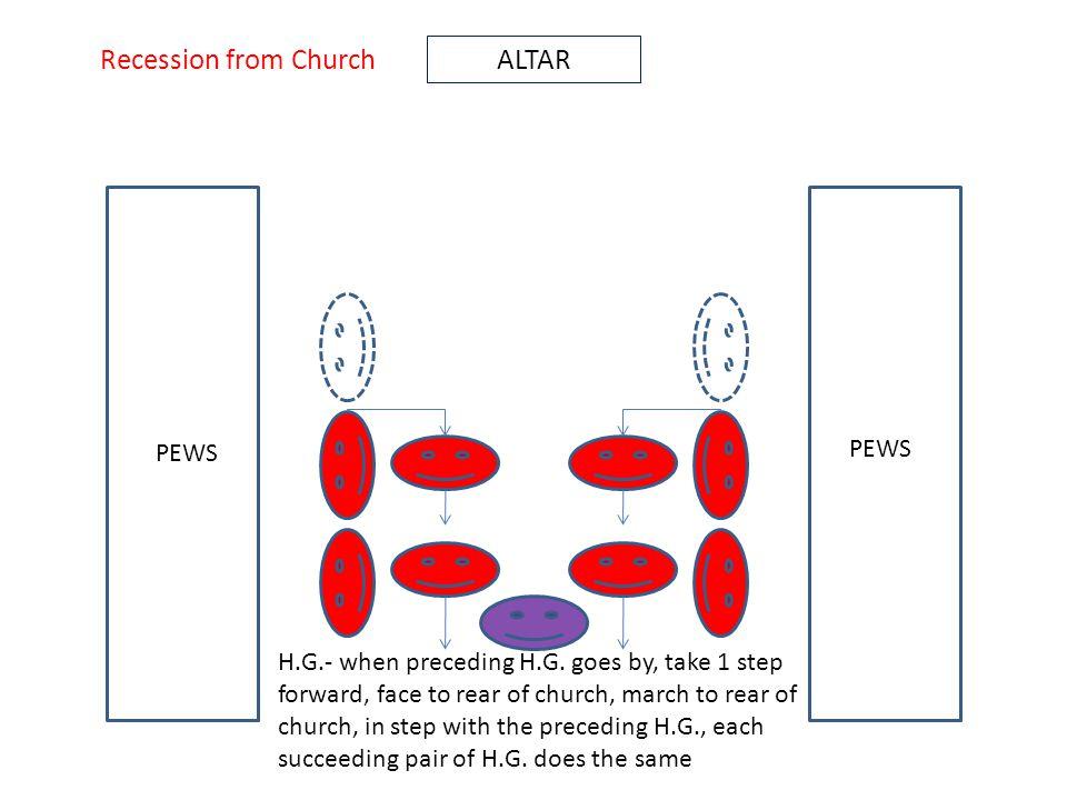 ALTAR PEWS H.G.- when preceding H.G.