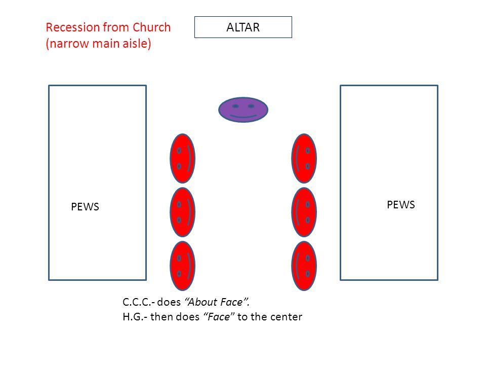 ALTAR PEWS C.C.C.- does About Face .