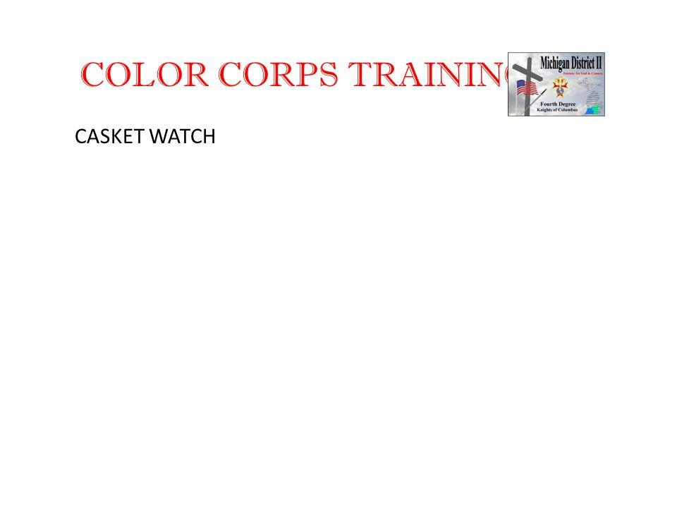 COLOR CORPS TRAINING CASKET WATCH