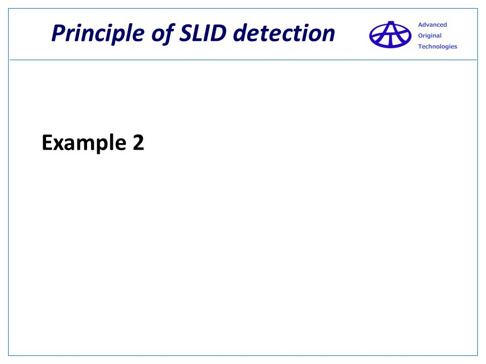 Principle of SLID detection What's the relationship between the Black and the Yellow? Here it is! 5 This is fully parallel detection.