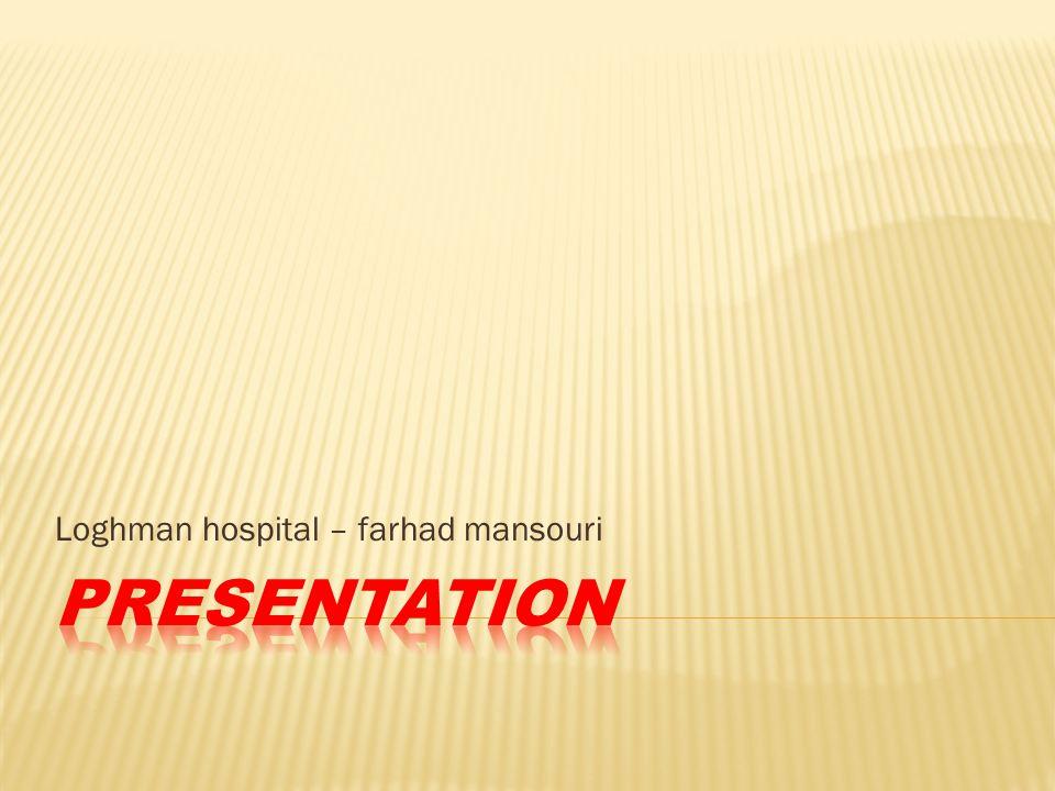 Loghman hospital – farhad mansouri