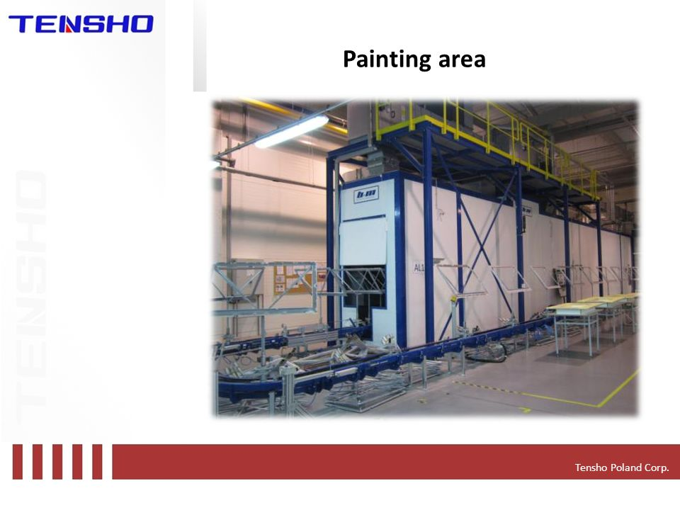 Tensho Poland Corp. Painting area