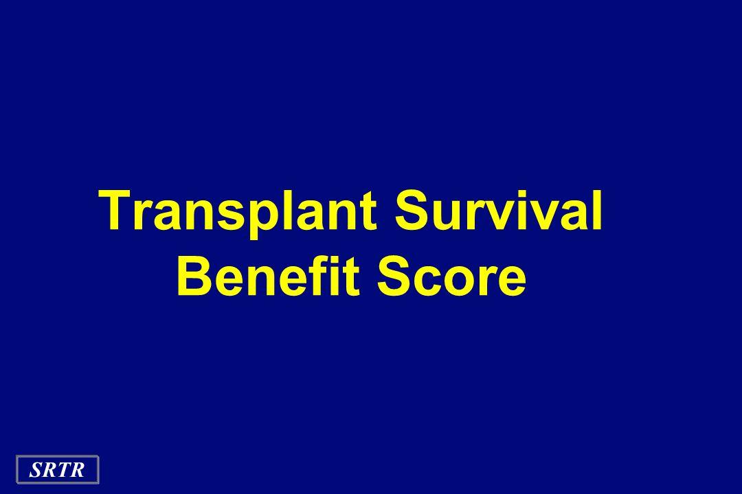 SRTR Transplant Survival Benefit Score