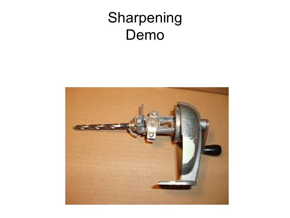 Sharpening Demo