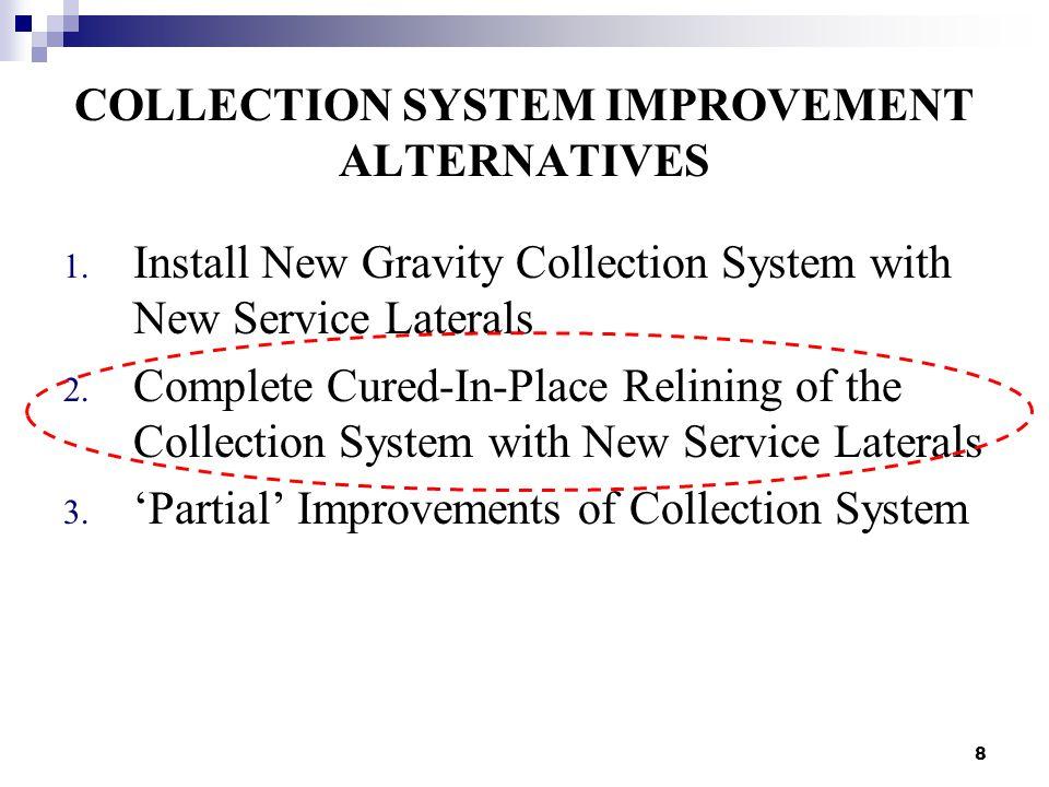 8 COLLECTION SYSTEM IMPROVEMENT ALTERNATIVES 1.