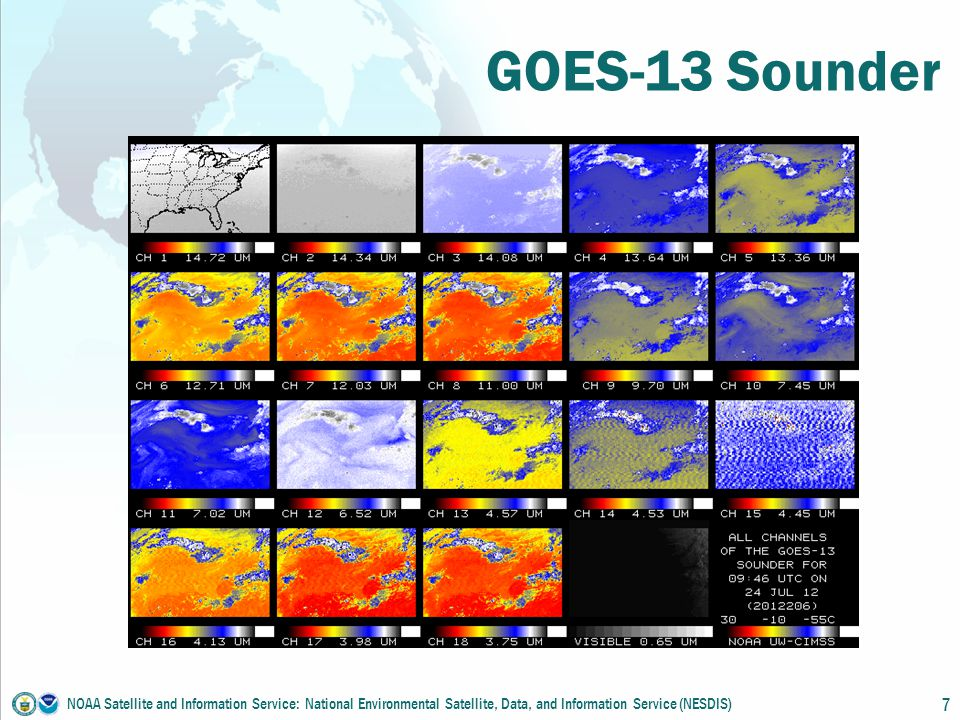 GOES-13 Sounder NOAA Satellite and Information Service: National Environmental Satellite, Data, and Information Service (NESDIS) 7