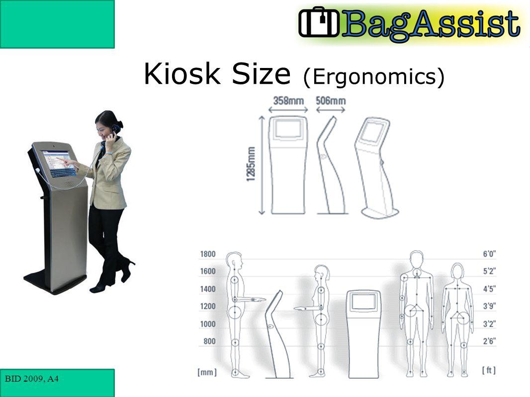 BID 2009, A4 Kiosk Size (Ergonomics)