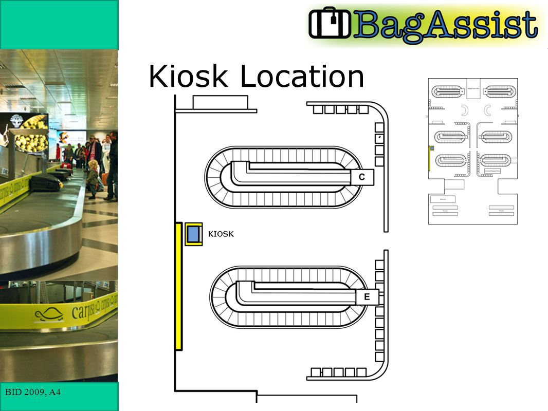 BID 2009, A4 Kiosk Location